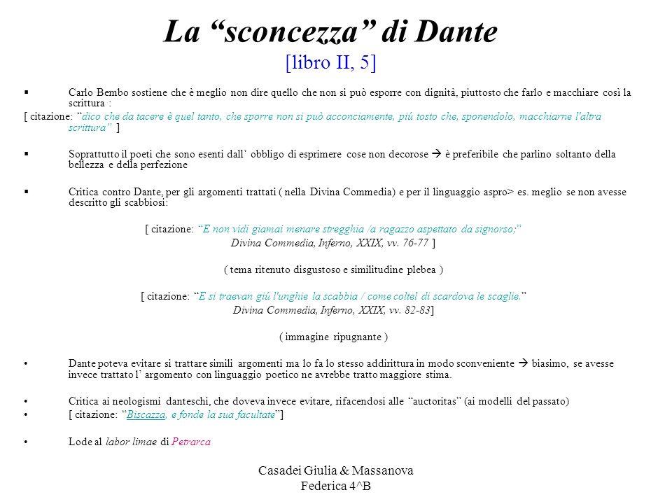 La sconcezza di Dante [libro II, 5]